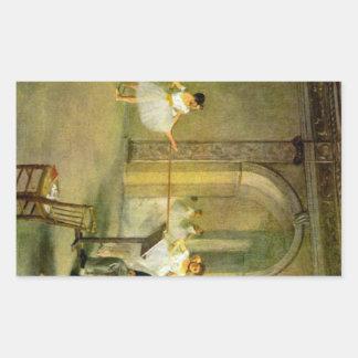 Edgar Degas - Hall of the Opera Ballet in the Rue Rectangular Sticker
