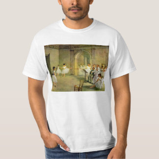 Edgar Degas - Hall of the Opera Ballet in the Rue T-Shirt