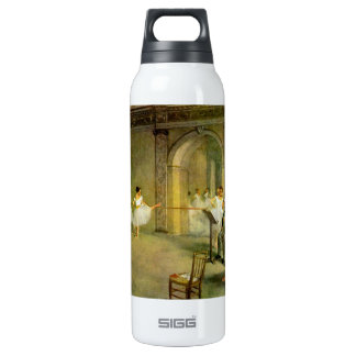 Edgar Degas - Hall of the Opera Ballet in the Rue Thermos Water Bottle