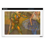 "Edgar Degas - Harlequin and Columbine Decal For 17"" Laptop"
