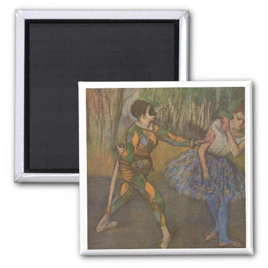 Edgar Degas - Harlequin & Colombine 1884 Magnet