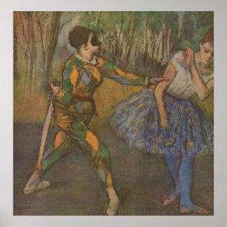 Edgar Degas - Harlequin & Colombine 1884 Poster