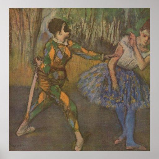 Edgar Degas - Harlequin y Colombine 1884 Impresiones
