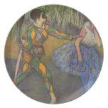 Edgar Degas - Harlequin y Colombine Platos Para Fiestas