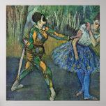 Edgar Degas - Harlequin y Columbine Poster