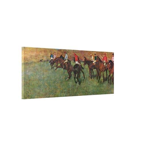 Edgar Degas - horse race before the start Canvas Print