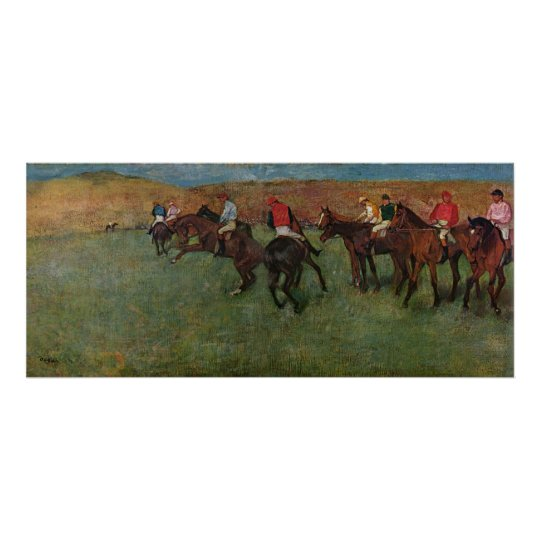 Edgar Degas - Horse Racing before Start 1878-80 Poster