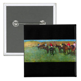 Edgar Degas - Horse racing before starting Pinback Buttons
