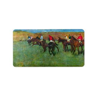 Edgar Degas - Horse racing before starting Label