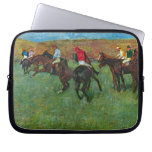 Edgar Degas - Horse racing before starting Laptop Sleeves