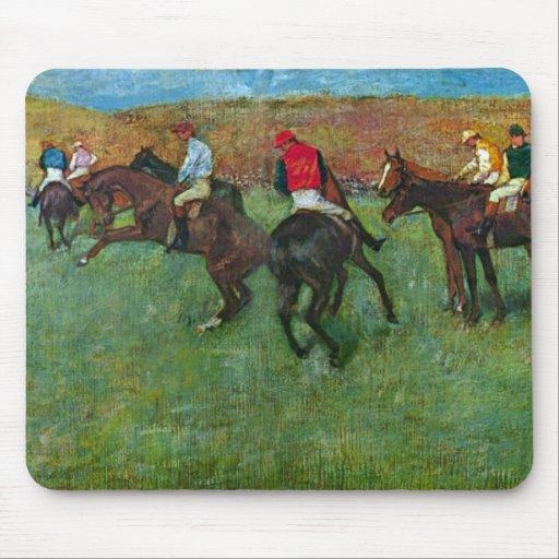 Edgar Degas - Horse racing before starting Mousepad