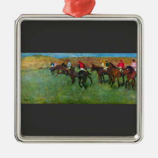 Edgar Degas - Horse racing before starting Christmas Ornaments