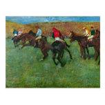 Edgar Degas - Horse racing before starting Post Cards