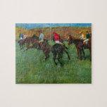 Edgar Degas - Horse racing before starting Jigsaw Puzzle