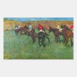 Edgar Degas - Horse racing before starting Rectangular Stickers