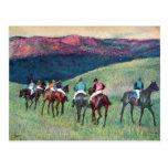 Edgar Degas - Horse racing -The training Postcard
