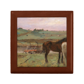 Edgar Degas - Horses in a Meadow Jewelry Box