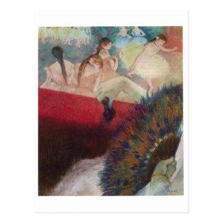 Edgar Degas - In the Theatre Theater Fan Dancers Postcard