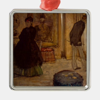 Edgar Degas | Interior with Two Figures, 1869 Metal Ornament