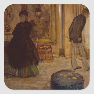 Edgar Degas | Interior with Two Figures, 1869 Square Sticker