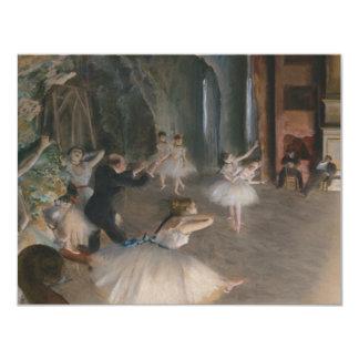 """Edgar Degas Invitación 4.25"""" X 5.5"""""""