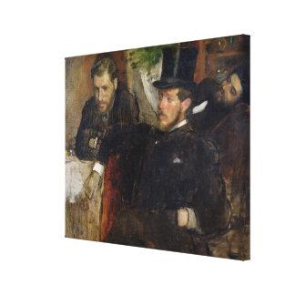 Edgar Degas   Jeantaud, Linet and Laine, 1871 Canvas Print