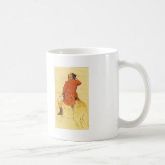 Edgar Degas: Jinete en una capa roja Taza Básica Blanca