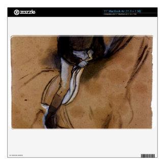 "Edgar Degas - Jockey forward flexed standing in th 11"" MacBook Air Decal"