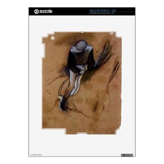 Edgar Degas - Jockey forward flexed standing in th iPad 2 Skins