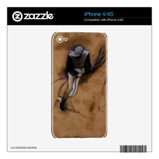 Edgar Degas - Jockey forward flexed standing in th iPhone 4 Decal