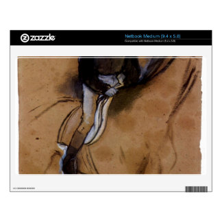 Edgar Degas - Jockey forward flexed standing in th Medium Netbook Skins