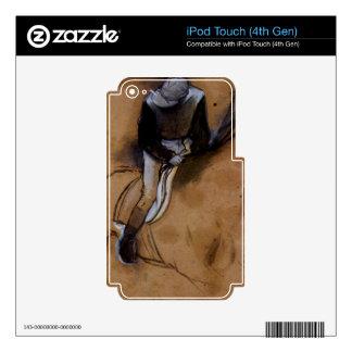 Edgar Degas - Jockey forward flexed standing in th Skin For iPod Touch 4G