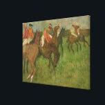 "Edgar Degas | Jockeys, 1886-90 Canvas Print<br><div class=""desc"">Image:42260  Jockeys,  1886-90. Degas,  Edgar (1834-1917). Private Collection.  Art,  Fine Art.</div>"