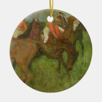 Edgar Degas | Jockeys, 1886-90 Ceramic Ornament
