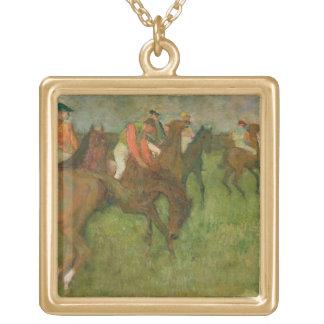 Edgar Degas | Jockeys, 1886-90 Gold Plated Necklace