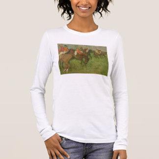 Edgar Degas   Jockeys, 1886-90 Long Sleeve T-Shirt