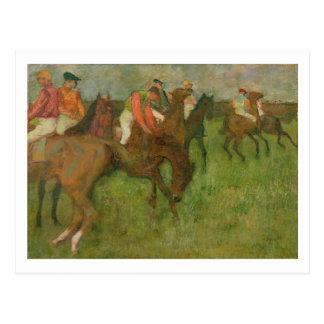 Edgar Degas | Jockeys, 1886-90 Postcard