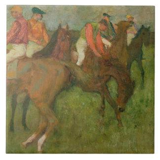 Edgar Degas | Jockeys, 1886-90 Tile