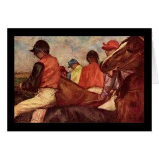 Edgar Degas Jockeys Greeting Card