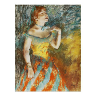 Edgar Degas La Chanteuse verte Poster