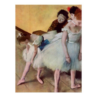 Edgar Degas la clase de baile Póster