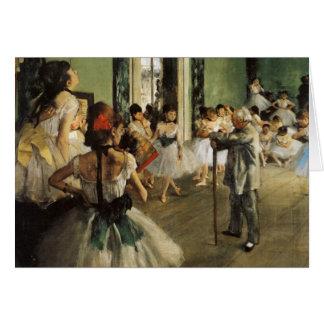 Edgar Degas La Classe de Danse Card