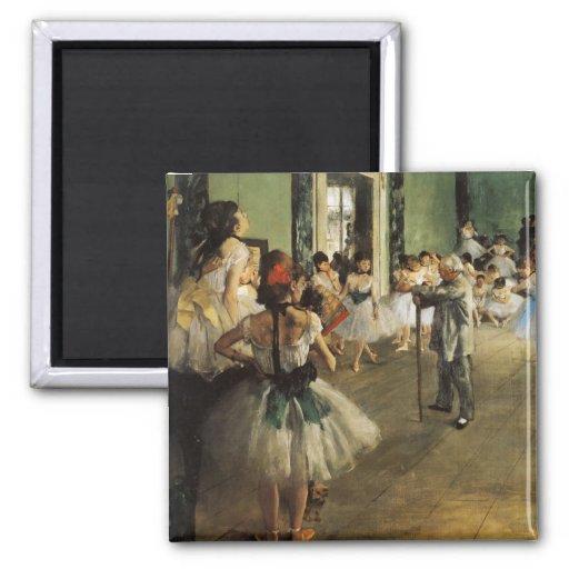 Edgar Degas La Classe de Danse Imán De Frigorífico