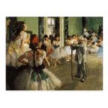 Edgar Degas La Classe de Danse Postcard