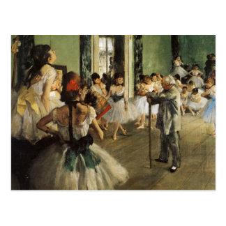 Edgar Degas La Classe de Danse Postcards