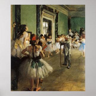 Edgar Degas La Classe de Danse Póster