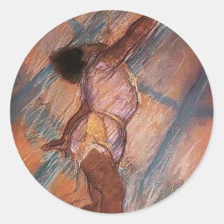 Edgar Degas: 'La del La en el Cirque Fernando Pegatina Redonda
