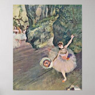 Edgar Degas - la estrella del ballet Póster