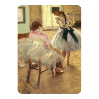 Edgar Degas la lección de danza Invitación 11,4 X 15,8 Cm