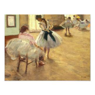 """Edgar Degas la lección de danza Invitación 4.25"""" X 5.5"""""""